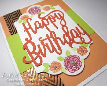 Happy birthday gorgeous floral - peekaboo 2