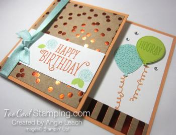 Happy birthday gorgeous gc holder - peach 2