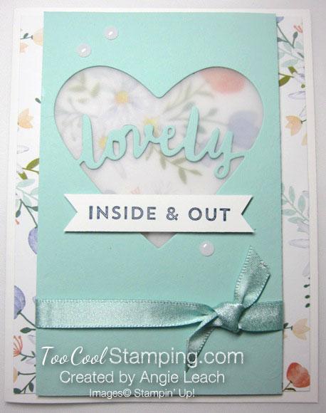 Lovely words vellum window - lovely