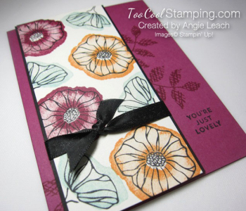 Oh so eclectic stamped background - berry burst 2