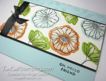 Oh so eclectic stamped background - soft sky 2