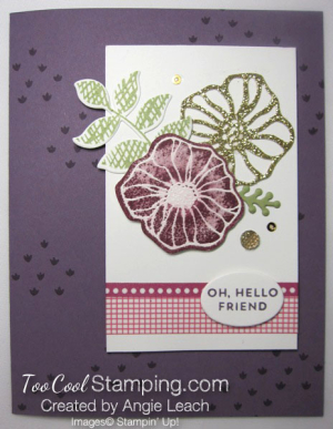 Oh So Eclectic emboss resist collage - plum