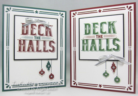 Deck The Halls Ornaments Trio - two cool
