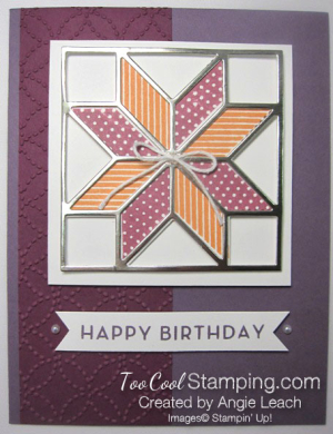 Christmas quilt champagne leading - plum