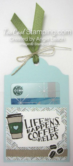 Coffee Cafe Life Happens Gift Card Holders - sky