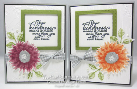 Painted Harvest Sentiment Window Cards - two cool