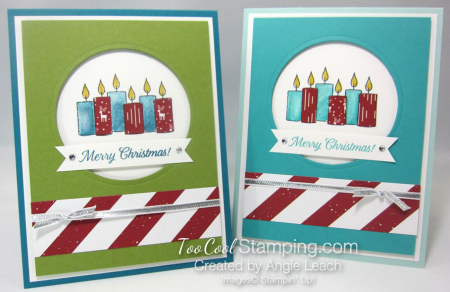 Paper pieced candles - two cool