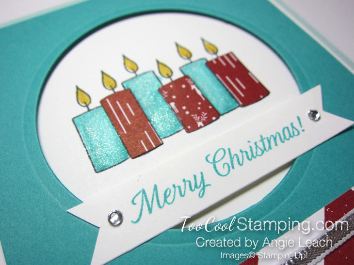 Paper pieced candles - bermuda & pool 2