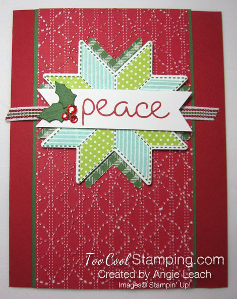 Christmas Quilt Textured Peace - red 1