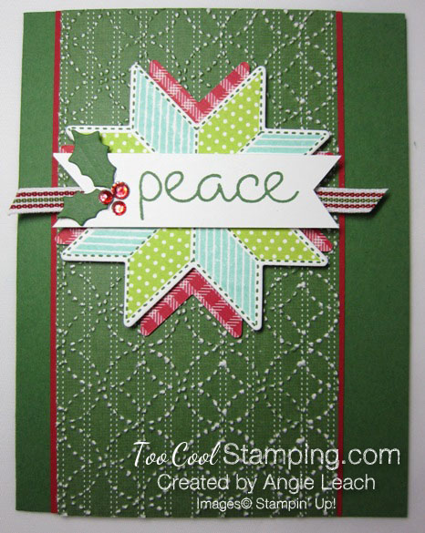 Christmas Quilt Textured Peace - greenv 1