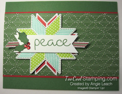 Christmas Quilt Textured Peace - greenh 1