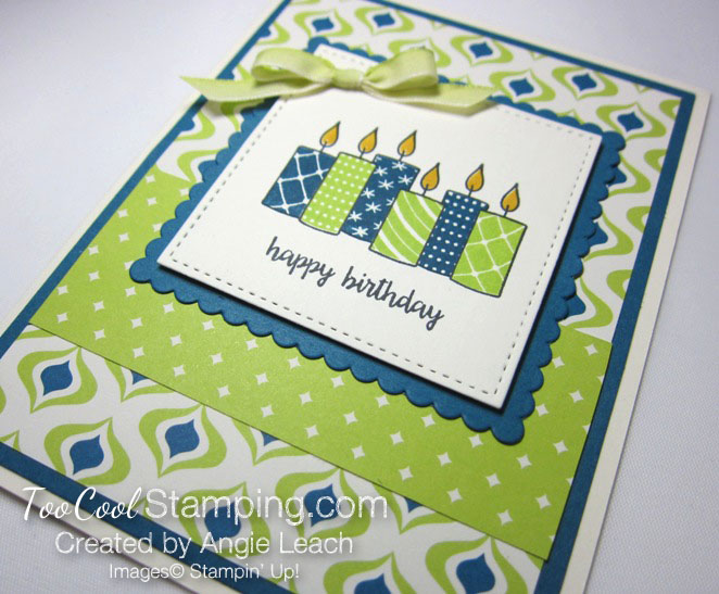 Merry patterns happy birthday - lime 2