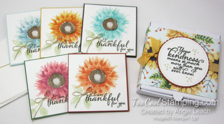 Painted Harvest Pizza Box Note Cards - full set