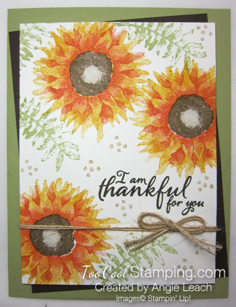 Painted harvest thankful cards - yellow