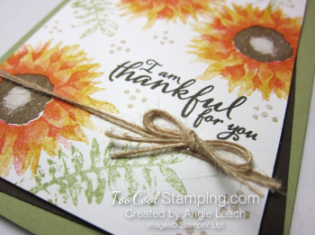 Painted harvest thankful cards - yellow 4