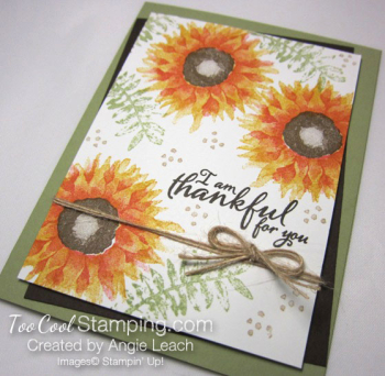 Painted harvest thankful cards - yellow 2