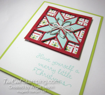 Christmas Quilt Recessed Star - pool red star 2