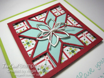 Christmas Quilt Recessed Star - pool red star 3