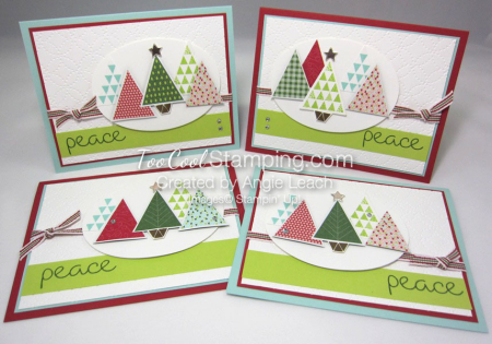 Christmas Quilt Trees - 4 cool