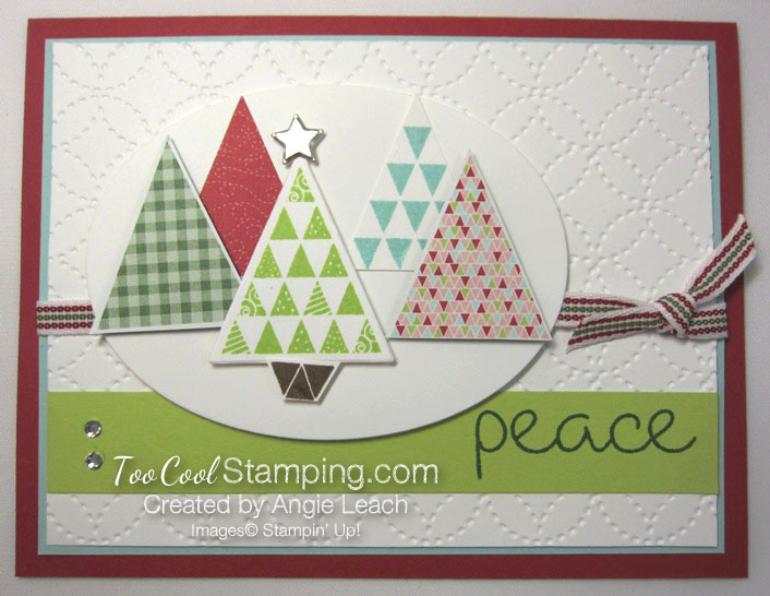 Christmas Quilt Trees - lime tree