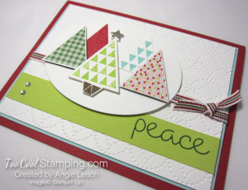 Christmas Quilt Trees - lime tree 2