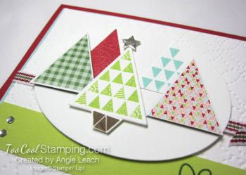 Christmas Quilt Trees - lime tree 3