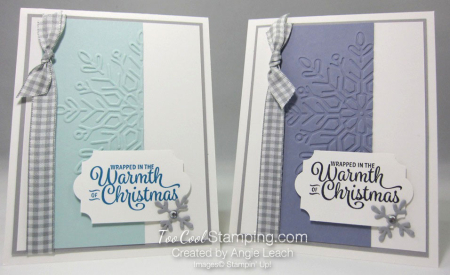 Snowflake sentiments warmth of christmas card - two cool