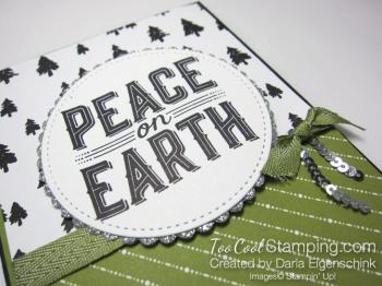 Darla - Peace on Earth olive & black 2