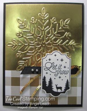 Year of Cheer Metallic Snowflakes - gold