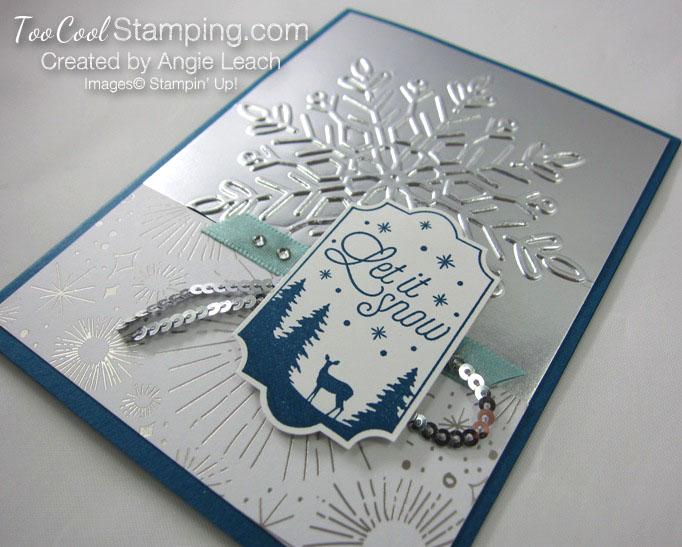 Year of Cheer Metallic Snowflakes - silver 3