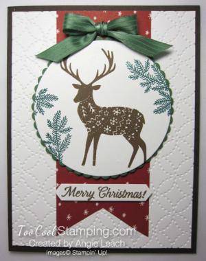 Merry patterns christmas reindeer - cherry & suede