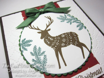 Merry patterns christmas reindeer - cherry & suede 2