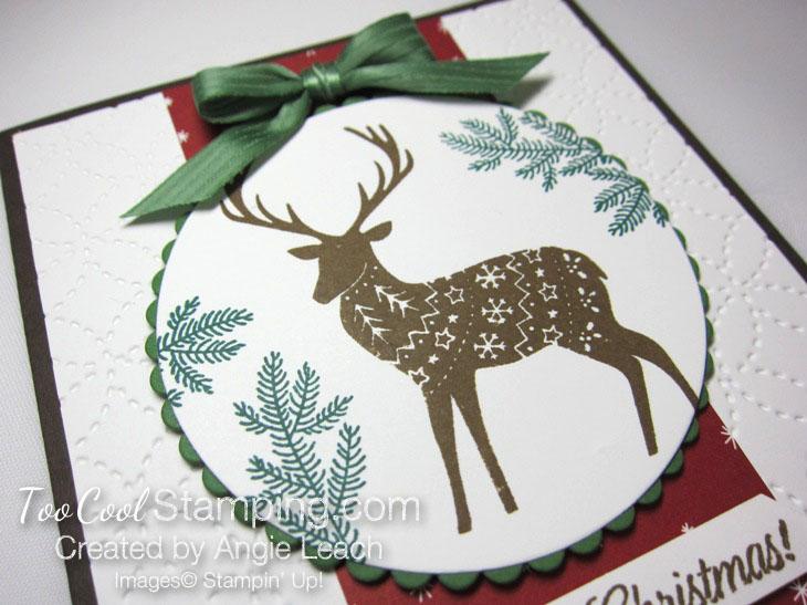 Merry patterns christmas reindeer - cherry & suede 2