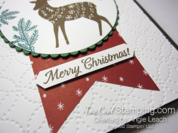 Merry patterns christmas reindeer - cherry & suede 3