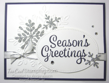 Snowflake Sentiments Seasons Greetings - eggplant
