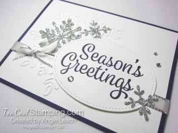 Snowflake Sentiments Seasons Greetings - eggplant 2