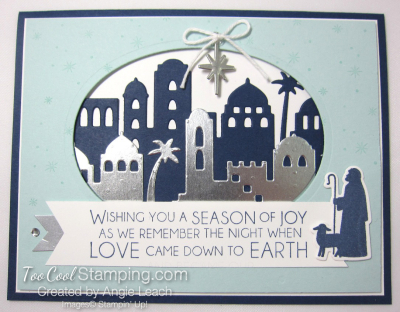 Night in bethlehem Season of Joy Oval - navy