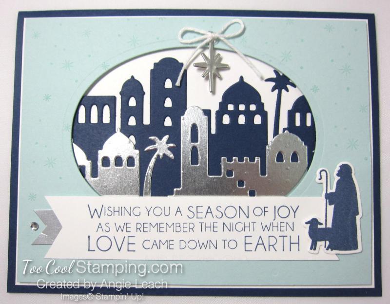 Night in bethlehem Season of Joy Oval - navy