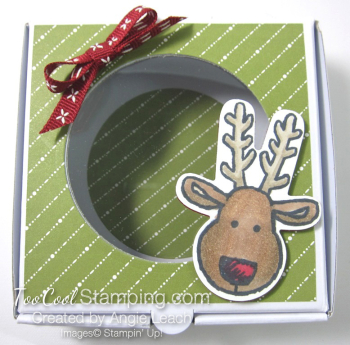 Cookie Cutter Mini Pizza Boxes - reindeer