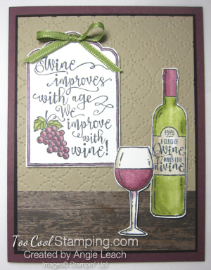 Half full wine improves with age bar - red