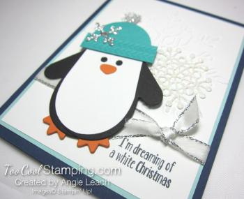 Many Mittens white Christmas - navy 2