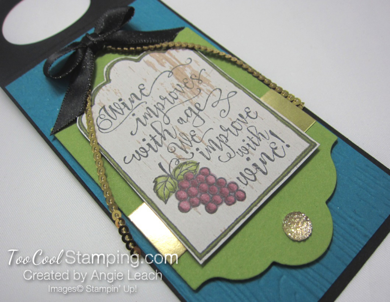 Half full wine tags - indigo bottle 3