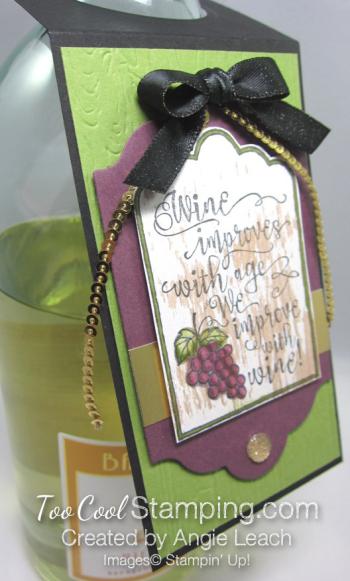 Half full wine tags - olive bottle 2