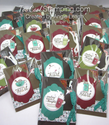 Hot cocoa pouches - bunch