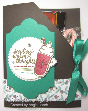 Hot cocoa pouches - emerald mat & cherry mug