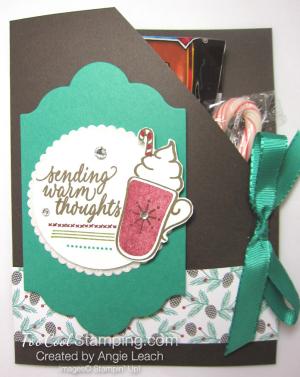 Hot cocoa pouches - emerald mat & cherry mug