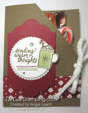Hot cocoa pouches - cherry mat & pear mug
