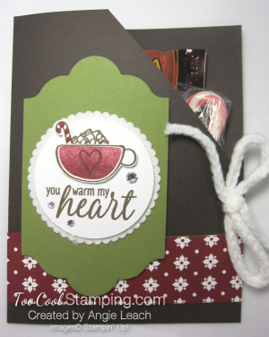 Hot cocoa pouches - olive mat & cherry mug