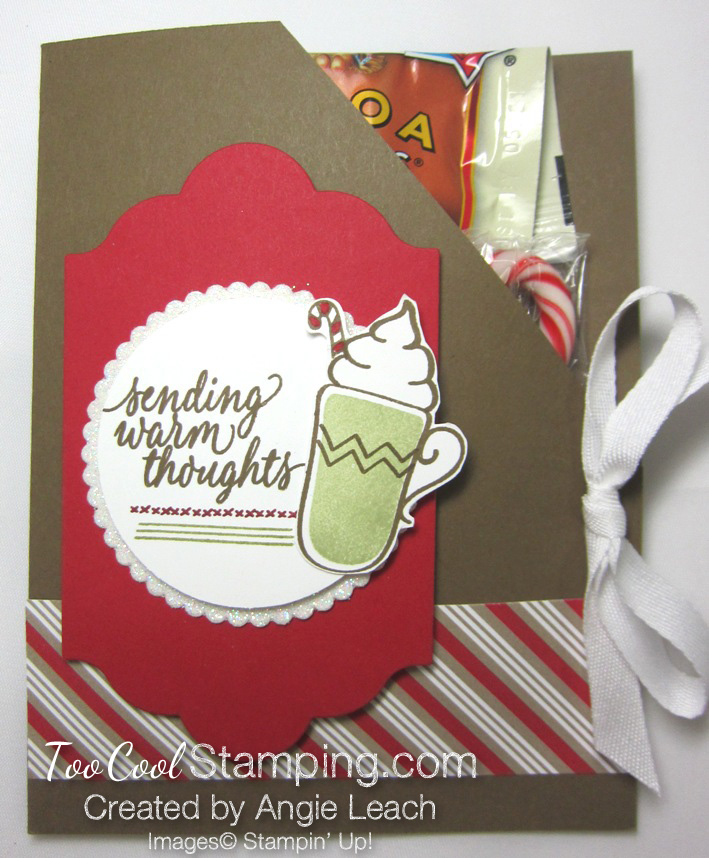 Hot cocoa pouches - red mat & pear mug