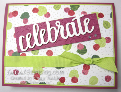 Tutti frutti celebrate you - raspberry